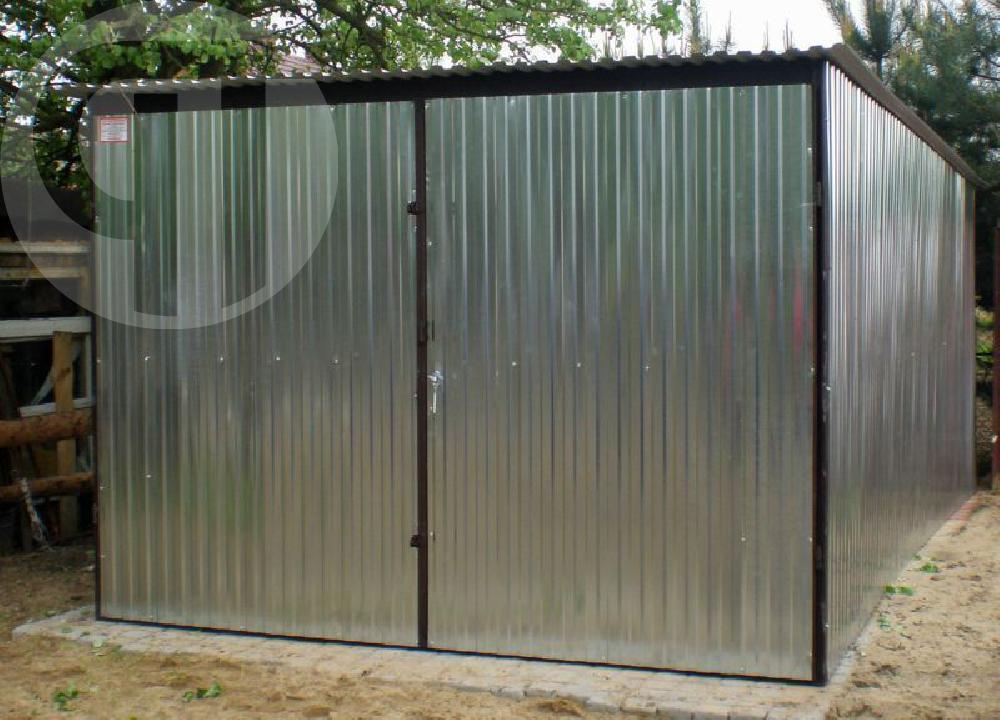 2 2 x 4 1 flachdach und flugelturen einzel metallgaragen metallgarage. Black Bedroom Furniture Sets. Home Design Ideas